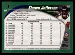 2002 Topps #60  Shawn Jefferson  Back Thumbnail