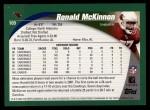 2002 Topps #109  Ronald McKinnon  Back Thumbnail