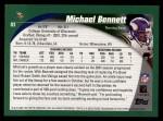 2002 Topps #83  Michael Bennett  Back Thumbnail