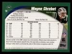 2002 Topps #10  Wayne Chrebet  Back Thumbnail