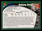 2002 Topps #107  Anthony Henry  Back Thumbnail