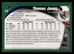 2002 Topps #198  Thomas Jones  Back Thumbnail