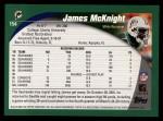 2002 Topps #154  James McKnight  Back Thumbnail