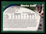 2002 Topps #15  Maurice Smith  Back Thumbnail