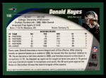 2002 Topps #140  Donald Hayes  Back Thumbnail