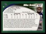 2002 Topps #39  Mike Green  Back Thumbnail