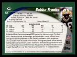 2002 Topps #125  Bubba Franks  Back Thumbnail