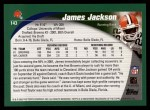2002 Topps #143  James Jackson  Back Thumbnail