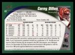 2002 Topps #61  Corey Dillon  Back Thumbnail