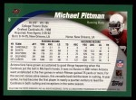 2002 Topps #8  Michael Pittman  Back Thumbnail