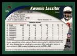2002 Topps #185  Kwamie Lassiter  Back Thumbnail