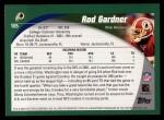 2002 Topps #105  Rod Gardner  Back Thumbnail