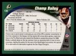 2002 Topps #139  Champ Bailey  Back Thumbnail