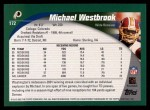 2002 Topps #172  Michael Westbrook  Back Thumbnail