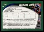 2002 Topps #56  Desmond Clark  Back Thumbnail
