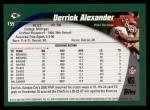 2002 Topps #159  Derrick Alexander  Back Thumbnail