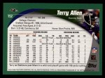 2002 Topps #152  Terry Allen  Back Thumbnail