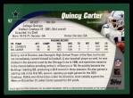 2002 Topps #92  Quincy Carter  Back Thumbnail