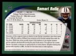 2002 Topps #89  Samari Rolle  Back Thumbnail