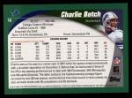 2002 Topps #16  Charlie Batch  Back Thumbnail