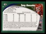 2002 Topps #9  Tony Gonzalez  Back Thumbnail