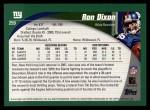2002 Topps #259  Ron Dixon  Back Thumbnail