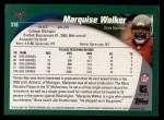 2002 Topps #318  Marquise Walker  Back Thumbnail