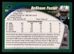 2002 Topps #320  DeShaun Foster  Back Thumbnail