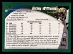 2002 Topps #351  Ricky Williams  Back Thumbnail
