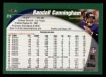 2002 Topps #216  Randall Cunningham  Back Thumbnail