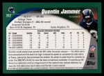 2002 Topps #312  Quentin Jammer  Back Thumbnail