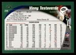 2002 Topps #239  Vinny Testaverde  Back Thumbnail