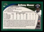 2002 Topps #364  Anthony Weaver  Back Thumbnail