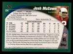 2002 Topps #334  Josh McCown  Back Thumbnail
