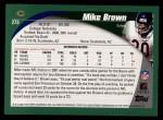 2002 Topps #273  Mike Brown  Back Thumbnail