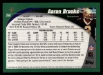2002 Topps #258  Aaron Brooks  Back Thumbnail