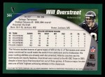 2002 Topps #344  Will Overstreet  Back Thumbnail