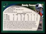 2002 Topps #376  Randy Fasani  Back Thumbnail