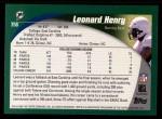 2002 Topps #358  Leonard Henry  Back Thumbnail