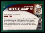 2002 Topps #292   -  Peyton Manning Weekly Wrap-Up Back Thumbnail