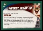 2002 Topps #296   -  Rod Gardner Weekly Wrap-Up Back Thumbnail