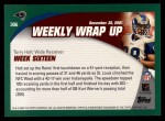2002 Topps #306   -  Torry Holt Weekly Wrap-Up Back Thumbnail
