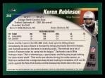 2002 Topps #240  Koren Robinson  Back Thumbnail