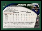 2002 Topps #257  Jermaine Lewis  Back Thumbnail