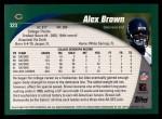2002 Topps #323  Alex Brown  Back Thumbnail