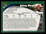2002 Topps #225  Quincy Morgan  Back Thumbnail