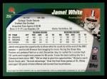 2002 Topps #256  Jamel White  Back Thumbnail