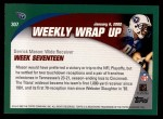 2002 Topps #307   -  Derrick Mason Weekly Wrap-Up Back Thumbnail