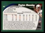 2002 Topps #205  Peyton Manning  Back Thumbnail