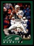2002 Topps #205  Peyton Manning  Front Thumbnail